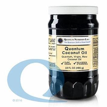 Quantum Coconut Oil, 54 Oz Virgin (3 Bottles), Raw, Organic, Vegan Coconut Oil-One of the Healthiest Oils in the World