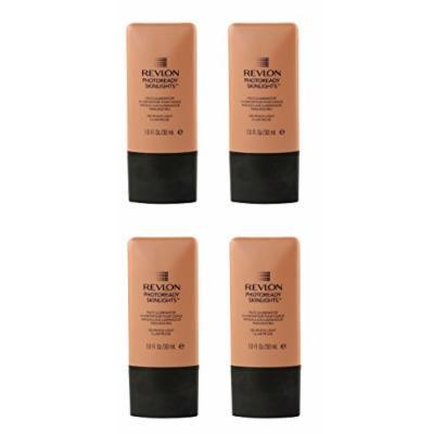 Revlon Photo Ready Skinlights Face Illuminator - Peach Light (4 Pack) + FREE FREE Schick Slim Twin ST for Sensitive Skin