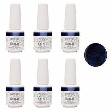 Gelish Mini Caution UV LED Soak Off Gel Nail Polish Bottle, 0.3 oz (6 Pack)