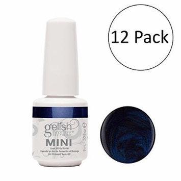 Gelish Mini Caution UV LED Soak Off Gel Nail Polish Bottle, 0.3 oz (12 Pack)