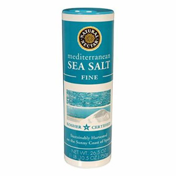 Natural Nectar Mediterranean Sea Salt - Fine - Case Of 12 - 26.5 Oz. 26.5 OZ