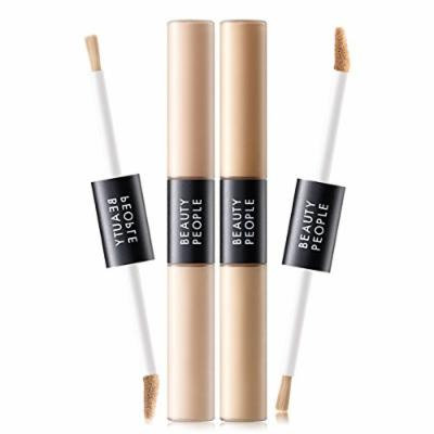 Beauty People Absolute Cover Fit Liquid Concealer Duo (13g) Korea Cosmetics (2 COLOR) (#23 Conceal Sand)
