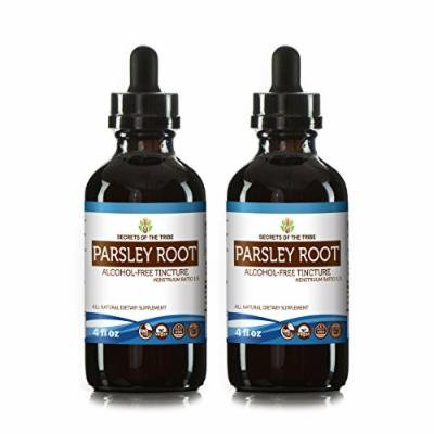 Parsley Root Tincture Alcohol-FREE Extract, Organic Parsley (Petroselinum crispum) Dried Root (2x4 FL OZ)