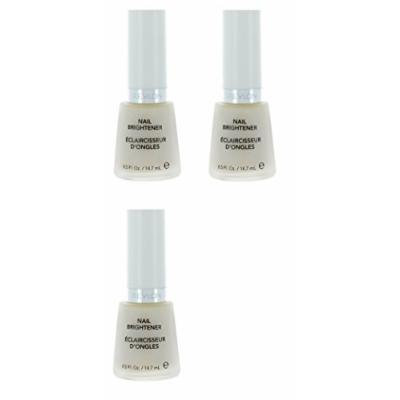Revlon Nail Brightener Base Coat (3 Pack) + FREE Travel Toothbrush, Color May Vary
