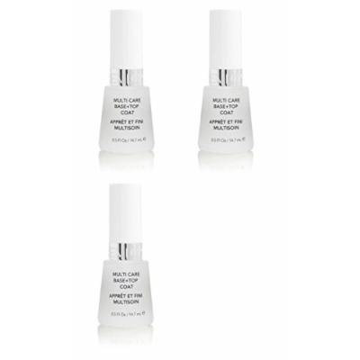 Revlon Nail Polish Multi Care Base+top Coat 0.5 Oz (3 Pack) + FREE Travel Toothbrush, Color May Vary