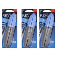 Revlon Volume + Length Magnified Mascara, Black (3 Pack) + FREE Travel Toothbrush, Color May Vary