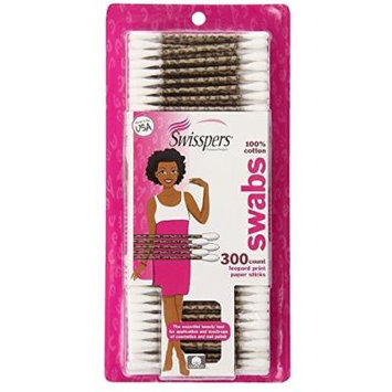 Premium 100% Cotton Swabs - Leopard Print Paper Sticks ~ Essential Beauty Tool For Cosmetic and Nail Polish Touch-Ups (5)