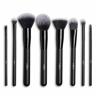 Makeup brush 8 pieces Anjou Makeup brush Face brush Luxury tacon dedicated pouch