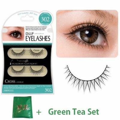 D.U.P False Eyelashes - Cross 302 (Green Tea Set)