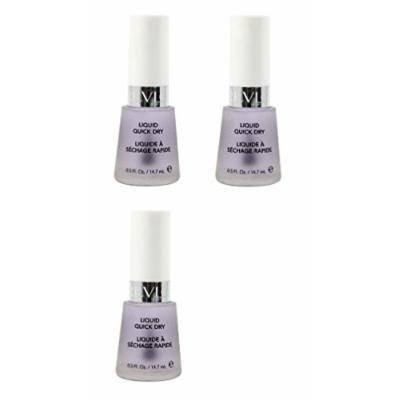 Revlon Liquid Quick Dry, 0.5 Ounce (3 Pack) + FREE Assorted Purse Kit/Cosmetic Bag Bonus Gift