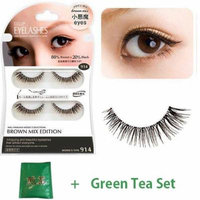 D.U.P False Eyelashes Brown Mix - Small Devil Eyes 914 (Green Tea Set)