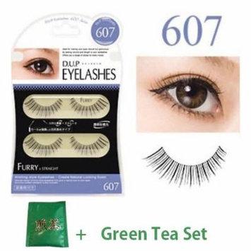 D.U.P False Eyelashes - Furry 607 (Green Tea Set)