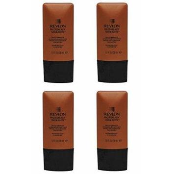 Revlon Photoready Skinlights Face Illuminator ~ Bronze Light 400 (4 Pack) + FREE Assorted Purse Kit/Cosmetic Bag Bonus Gift