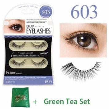 D.U.P False Eyelashes - Furry 603 (Green Tea Set)