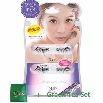 D.U.P False Eyelashes Secret Line Air - Small Devil Eyes 929 (Green Tea Set)