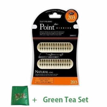 D.U.P False Eyelashes - Point Plus 203 (Green Tea Set)