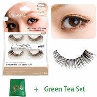 D.U.P False Eyelashes Brown Mix - Girly Eyes 915 (Green Tea Set)