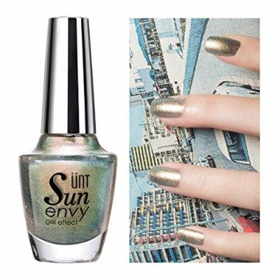 UNT Gel Effect Nail Polish, No Led UV Needed Dry Fast Gel Effect Nail Lacquer Clear High Gloss Professional Nail Polish - 0.5oz/15ml (NV135) W Free Gift