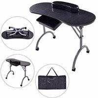 New MTN-G Foldable Manicure Nail Table Station Desk Beauty Salon Equipment Spa w/Bag Brush