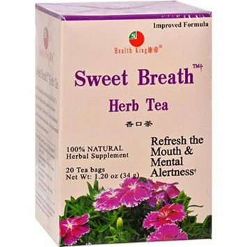2 Pack of Health King Sweet Breath Herb Tea - 20 Tea Bags