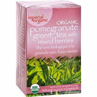 2 Pack of Uncle Lee s Imperial Organic Pomegranate Green Tea with Mixed Berries - 18 Tea Bags - 95%+ Organic -