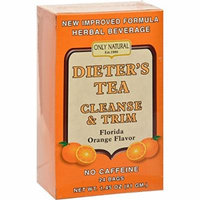 2 Pack of Only Natural Dieter's Tea Cleanse and Trim Orange - 24 Tea Bags Wellness Teas