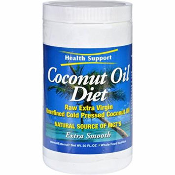 2 Pack of Health Support Coconut Oil Diet - Raw - Extra Virgin - 30 oz - Dairy Free-Yeast Free-Wheat Free-