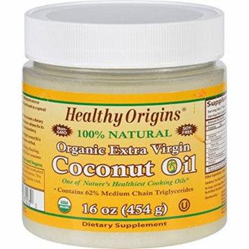 2 Pack of Healthy Origins Coconut Oil - Organic - Extra Virgin - 16 oz