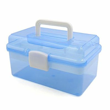 uxcell® Blue Multifunction Empty Nail Art Makeup Cosmetic Tool Container Storage Box