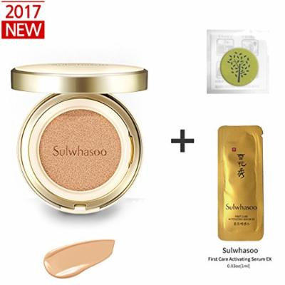 2017 New Sulwhasoo Perfecting Cushion EX (No.23 Natural Beige) 0.53oz(15g)+Refill 0.53oz(15g)