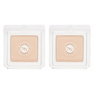 Honeybee Gardens Geisha Pressed Mineral Powder Foundation (Pack of 2) with Certified Organic Goji Berry, Bamboo Powder and Rosemary Leaf Oil, Vegan and Gluten Free, 0.26 oz.