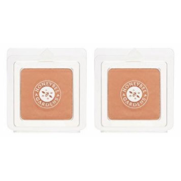 Honeybee Gardens Montego Pressed Mineral Powder Foundation (Pack of 2) with Certified Organic Goji Berry, Bamboo Powder and Rosemary Leaf Oil, Vegan and Gluten Free, 0.26 oz.