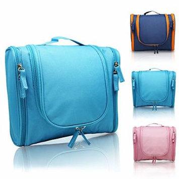 MANUKA Heavy Duty Premium Large Waterproof Hanging Toiletry Bag - Shaving Kit Organizer For Men and Cosmetics Makeup Bag For Women Blue
