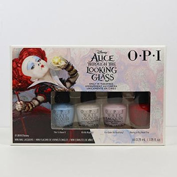 Alice Through The Looking Glass Collection Mini 4pc Set W/FREE Nail Art Glitter(Random)