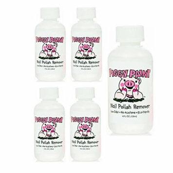 Piggy Paint Nail Polish Remover, 4 Fluid Ounce (5 Pack)