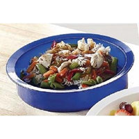 Patterson Medical High Side Dish with Rim - Blue