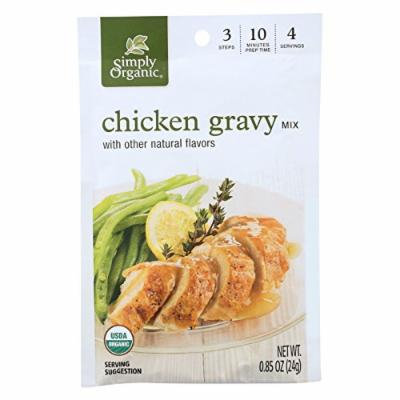 Simply Organic Seasoning Mix - Roasted Chicken Gravy - Case of 12 - 0.85 oz.