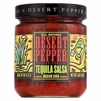 Desert Pepper Trading Medium Burn Tequila Salsa - Case of 6 - 16 oz.