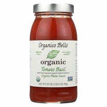 Organico Bello Basil Pasta Sauce - Tomato - Case of 6 - 25 oz.