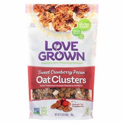 Love Grown Foods Oat Clusters - Sweet Cranberry Pecan - Case of 6 - 12 oz.