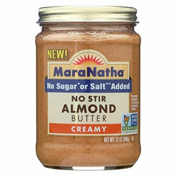 Maranatha Natural Foods Almond Butter - Honey Creamy - Case of 6 - 12 oz.
