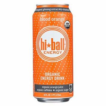 Hi Ball Organic Energy Drink - Blood Orange - Case of 12 - 16 Fl oz.