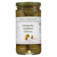 Jeff's Natural Jeff's Natural Jalapeno Stuffed Olives - Jalapeno Stuffed Olives - Case of 6 - 7.5 oz.