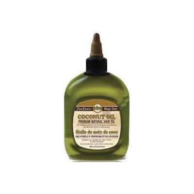 Difeel Premium Natural Hair Oil - Coconut Oil 8 oz. (Pack of 4)