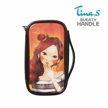 Fascy Cosmetic pouch Enamel Travel Makeup bag Pencil Case Storage Purse / Tina wave pouch