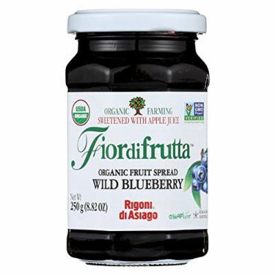 Fiordifrutta Organic Fruit Spread Wild Blueberry - Fruit Spread Wild Blueberry - Case of 6 - 8.82 oz.