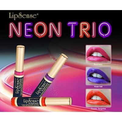 LipSense Liquid Lip Color NEON TRIO VIOLET VOLT, ELECTRIC TANGERINE, RAZZBERRY 0.25 fl oz / 7.4 ml DISCONTINUED COLOR