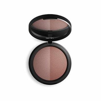 Inika Baked Mineral Blush Duo, Natural Make-Up Formula, Healthy Glow, Vegan 8g (0.28 oz) (Burnt Peach)