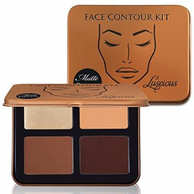 Face Contour Kit Matte Drama by Luscious Cosmetics. Powder and Cream Contouring Palette. Vegan and Cruelty Free.