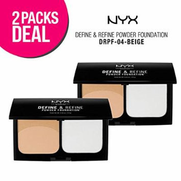 (2 PACK) N.Y.X. Define & Refine Powder Foundation (DRPF-04)